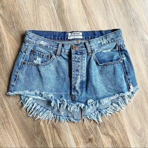 One Teaspoon Junkyard Mini Denim Skirt Size 26